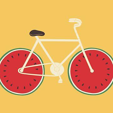 watermelon bike by Milkyprint