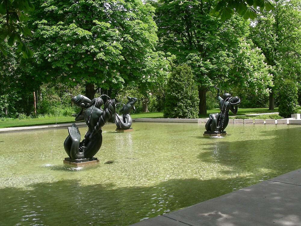 swimming nymphs by Edith Graybill