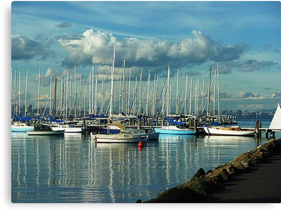 A Lazy Day on the Bay at Williamstown, a Safe Harbour. Vic, Aust* by EdsMum