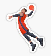 Russell Westbrook Dunking Oklahoma City Thunder Sticker
