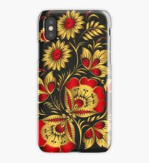 Russian Khokhloma style iPhone Case/Skin