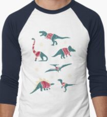 Dinos In Sweaters Baseball ¾ Sleeve T-Shirt