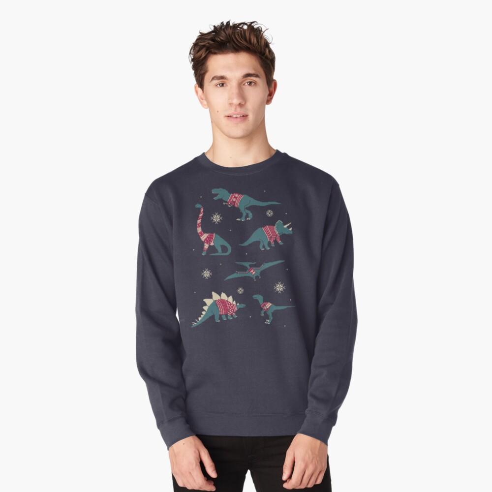 Dinos In Sweaters Pullover Sweatshirt