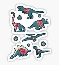 Dinos In Sweaters Sticker