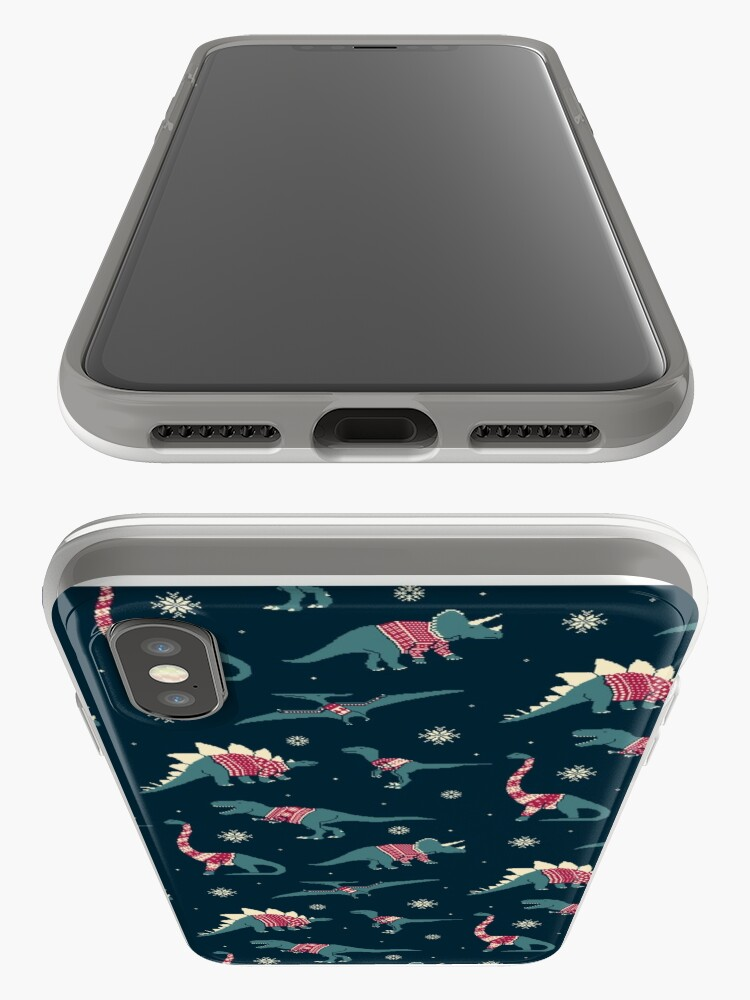 Alternate view of Dinos In Sweaters iPhone Case & Cover