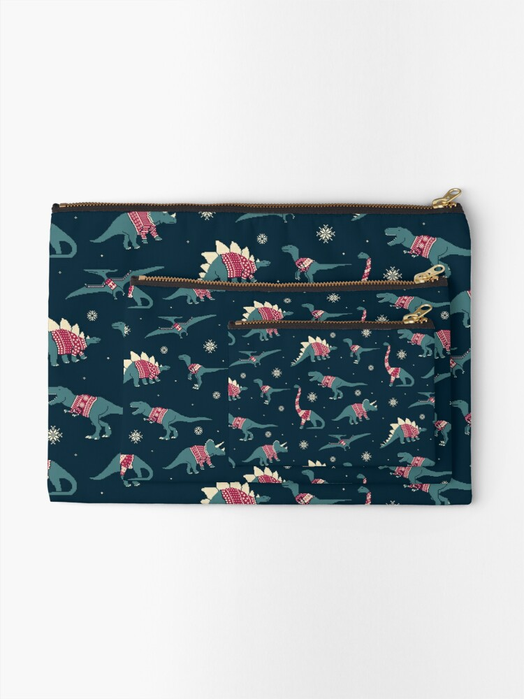 Alternate view of Dinos In Sweaters Zipper Pouch
