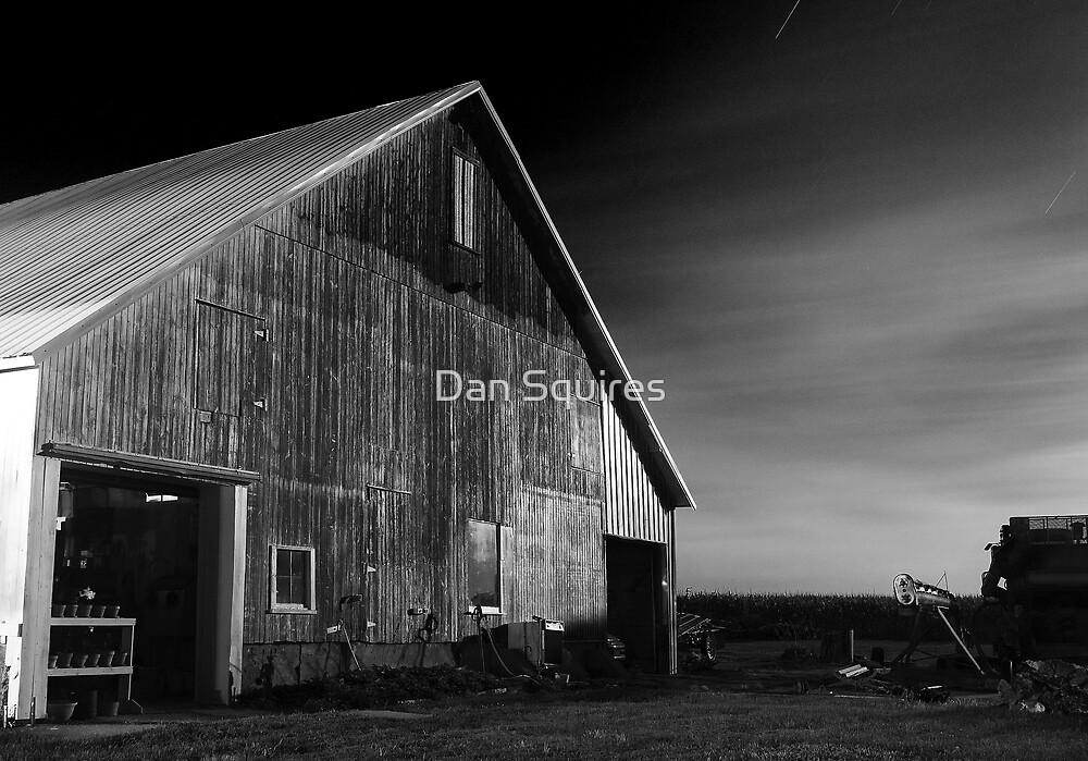 Barn in moonlight by Dan Squires