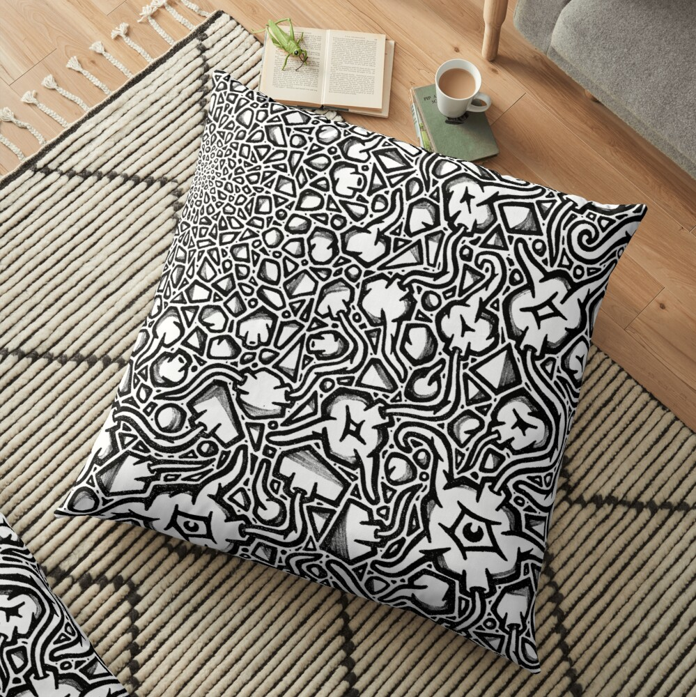 Space Pop Corn Floor Pillow