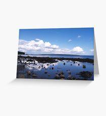 Tidal pool reflections Greeting Card