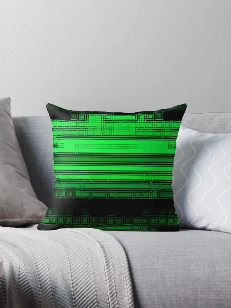 Beautiful Cushions/ The Matrix Green Zone by ozcushionstoo