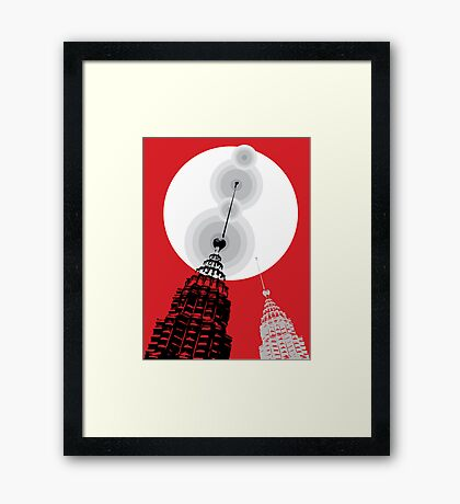 Towers of Asia Framed Print