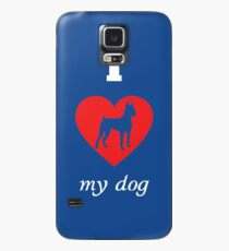 Miniature Pinscher - I Love My Dog Case/Skin for Samsung Galaxy