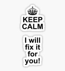 KEEP CALM we're IT-technicians Sticker