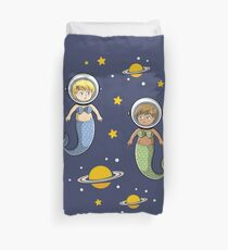Space Mermaids Duvet Cover