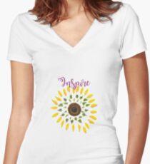 Inspire T-Shirt Women's Fitted V-Neck T-Shirt