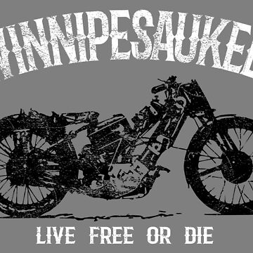 Winnipesaukee Vintage Motorcycle T-Shirt by HoodieWoodie