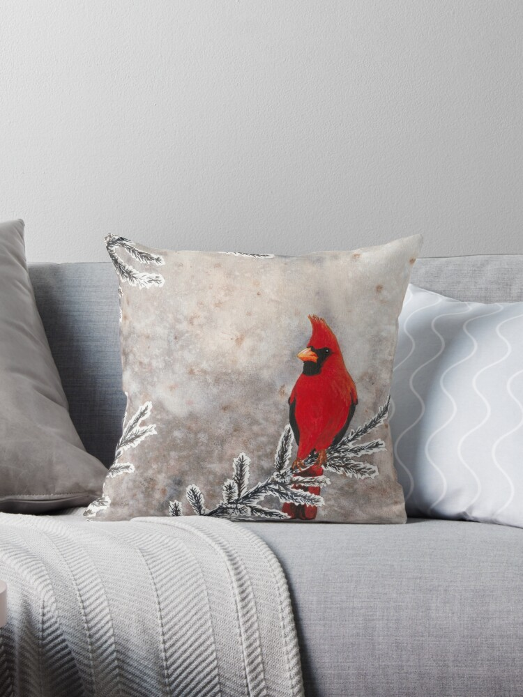 The red cardinal in winter by savousepate