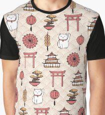 Japanese Pattern Graphic T-Shirt