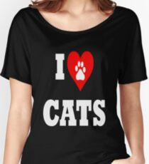I love cats Women's Relaxed Fit T-Shirt