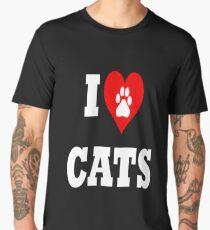I love cats Men's Premium T-Shirt