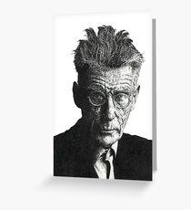 Samuel Beckett - Irish Author Greeting Card