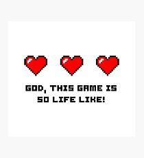 Gaming funny pixel art Photographic Print