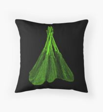 Green Broomsticks Throw Pillow