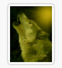 Wolf ~ GIVING THANKS  Sticker