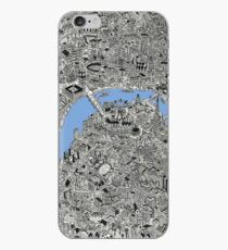 London Map Drawing iPhone Case