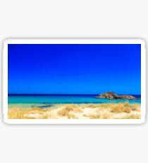 The beach of Chia su Giudeu, Sardinia Sticker