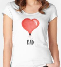 I Love My Dad - Gift For Best Dad Women's Fitted Scoop T-Shirt