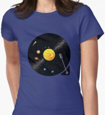 Solar System Vinyl Record Women's Fitted T-Shirt
