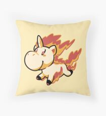 Rapidash! Throw Pillow
