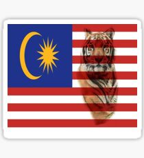 Malaysian Flag and Malayan Tiger Sticker