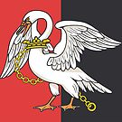Buckinghamshire Flag Stickers by mpodger