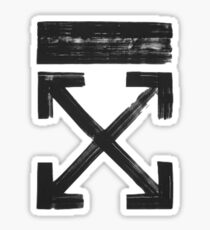Off white Brushed arrows Sticker