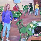 Cafe Scene by Virginia McGowan