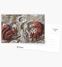 Ecureuils Love  / My Creations Artistic Sculpture Relief fact Main   (c)(h) by Olao-Olavia / Okaio Créations collector Postcards