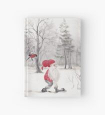 Gnome and bullfinch Hardcover Journal