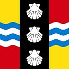 Bedfordshire Flag Stickers by mpodger