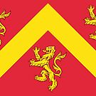 Anglesey Flag Stickers by mpodger