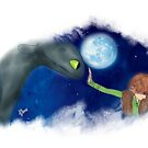 Hiccup & Toothless - How to train your dragon FANART 01 by liajung