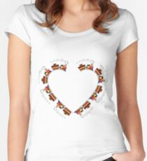 Train Heart. Women's Fitted Scoop T-Shirt