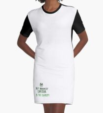 My Dream To Sleep Graphic T-Shirt Dress