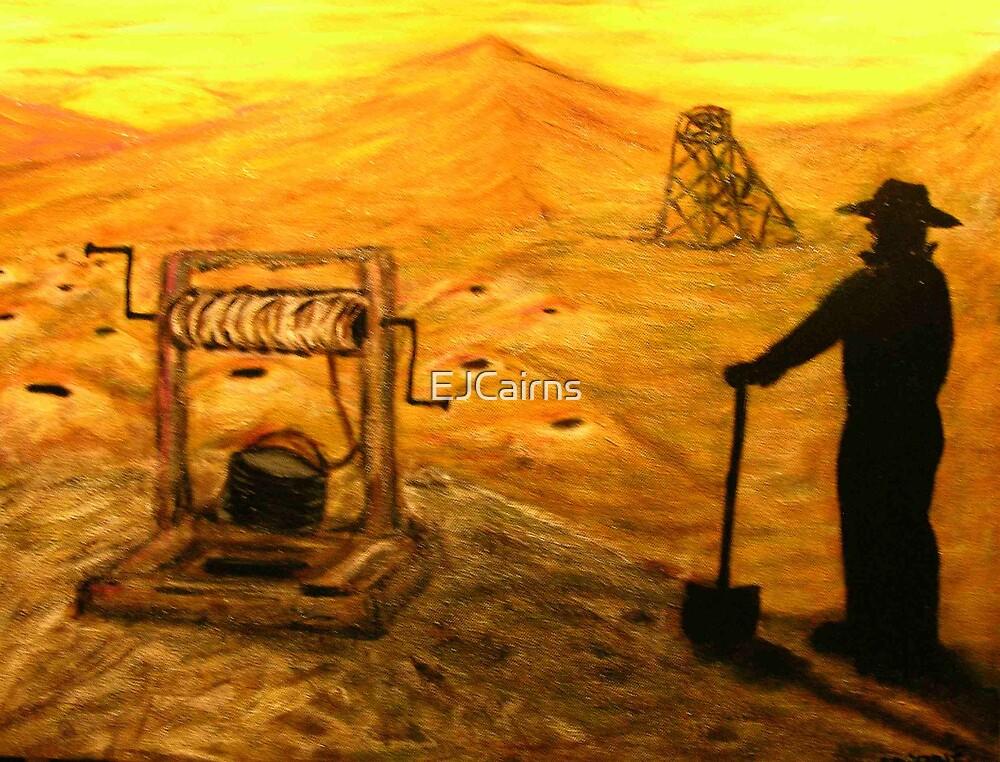 Australiana    Prospector Dreaming  EJCairns Original Sold  by EJCairns