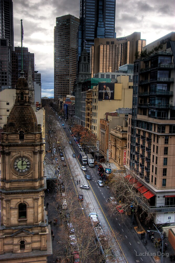 Looking down collins by Lachlan Doig