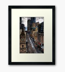Looking down collins Framed Print