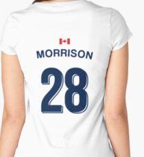 Jennifer Morrison Whitecaps Jersey  Women's Fitted Scoop T-Shirt