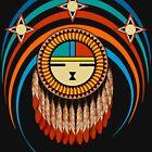 Feathered Katsina Sunface by Sena