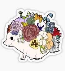 Stylized Flower Hedgehog Sticker